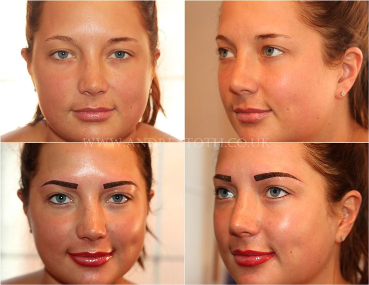Full face eyebrows eyeliner and lips semi permanent for Face tattoo makeup