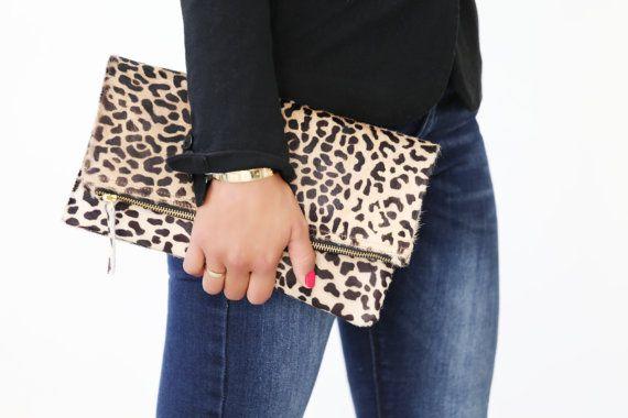 Leopard-print calf-hair puts a modern twist on this signature fold over clutch! The brass metal zip opens to a lined interior!  PRODUCT INFO  LARGE-FOLDOVER size: 11.5 W x 11.5 H inches-UNFOLDED size: 30cm x 30Cm MEDIUM CLUTCH size: 8 H x 11.5 W inches  WALLET CLUTCH size: 5 H x 8 W inches  COIN PURSE size: 3 H x 4.7 W inches   Material: Leopard Print Calf-Hair leather; Lining: Suede, Brass YKK zipper amazing gift for the fashionable women  ❤❤❤❤❤❤❤❤❤❤❤❤❤❤❤❤❤❤❤❤❤  (SHIPPING INFO)  see all my…