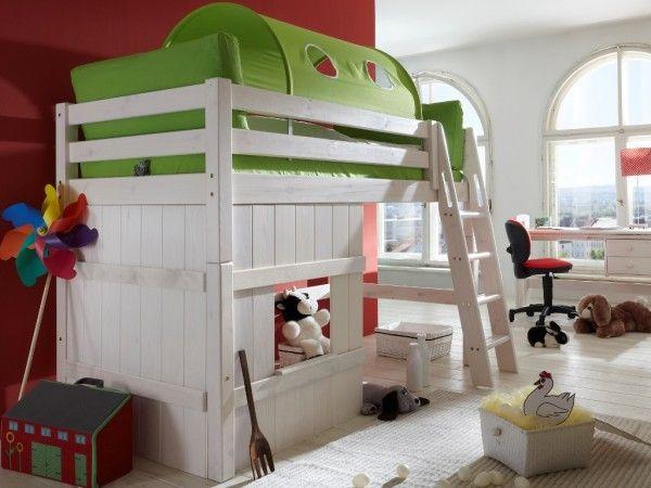 Stunning Kinderhochbett Kiefer massiv Lust auf Toben Spielen und gaaaaanz viel optionales Zubeh r Das