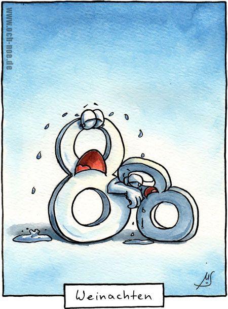 Das ist halt nicht immer so lustig.... Wein-achten ;-) www.och-noe.de - Cartoons