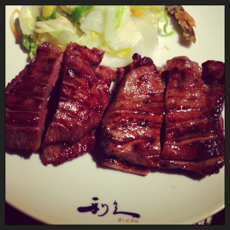 Juicy and thick beef tongue.