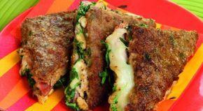 Deliziosi tramezzini di carne macinata con un saporito ripieno a base di prosciutto, brie e parmigiano