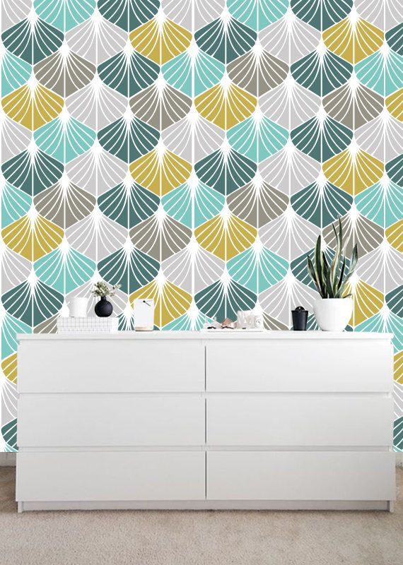 Peel-et-Stick amovible Wallpaper Colorful Tile
