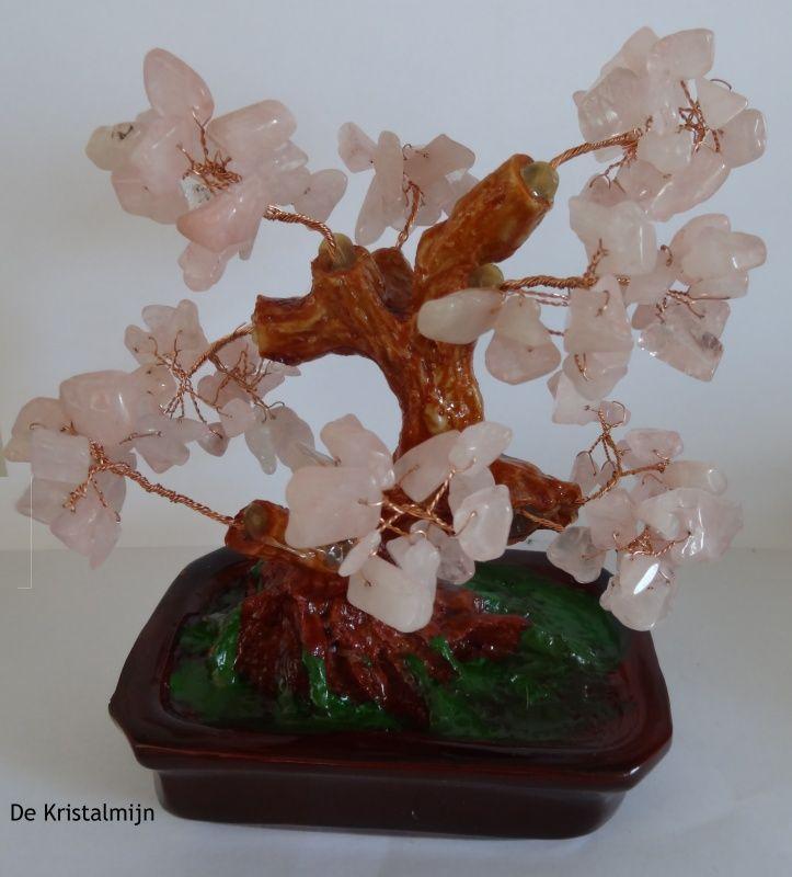 Levensboom van rozenkwarts