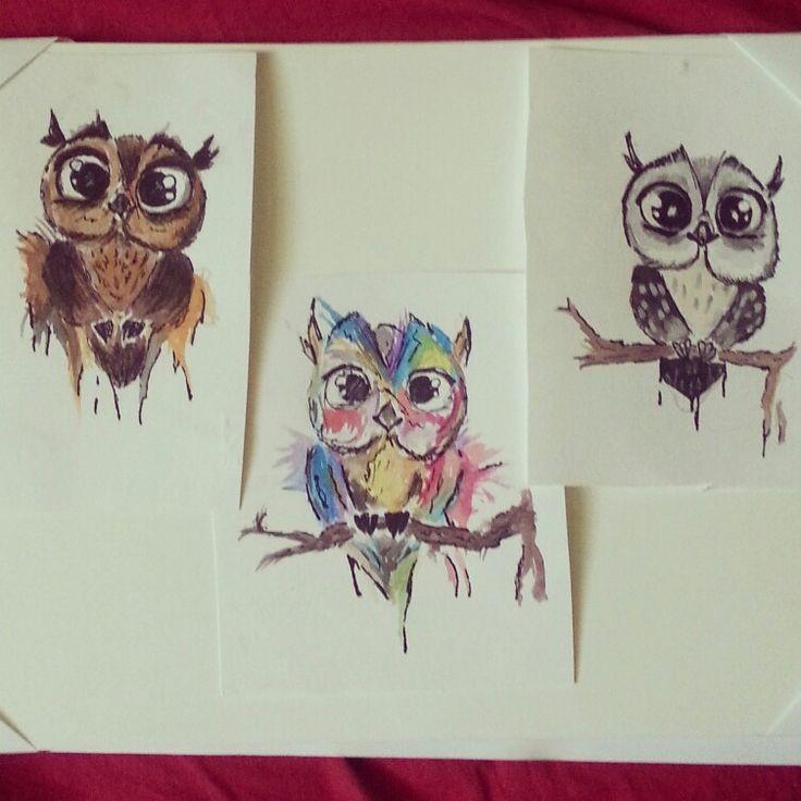 #owl #watercolor