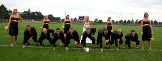 Soccer Themed Wedding Ideas: Football Theme Wedding Reception Ideas