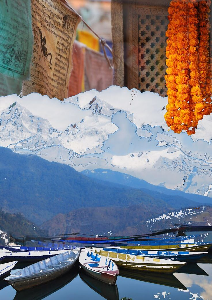 Nepal I Love You. Digital collage art by Yasmine Dabbous.