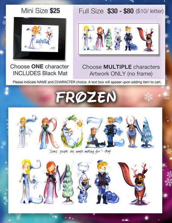 Disney Frozen Name Painting Elsa Anna Frozen Art by Legendbrush