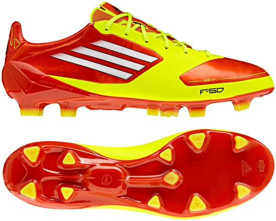Adidas intelligent soccer boot.. adizero f50 is powered by miCoach system to record and track soccer player performance data like speed, distance traveled, sprints..available 11/11 compatible with MAC, PC, iPod, and iPhone..wow