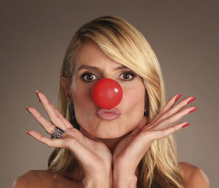 Heidi Klum | 8 Celebrity Portraits From Red Nose Day