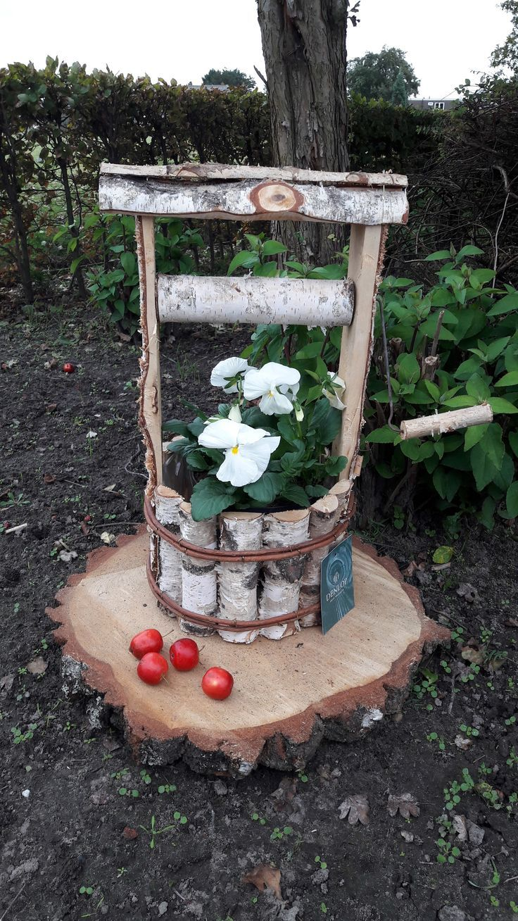 Birch Waterwell Birch Waterwell Diy Gartendekoration Gartendekor Diy Garten