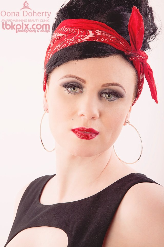 MUA Annette for #Makeup Shop.ie and #Oona Doherty Beauty Clinic using #Cinema Secrets Photographer #Tbkpix  Hair #Colour Bar  Model #Hariette Mc Crann contact info@makeupshop.ie for further information
