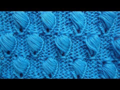 Спущенные шишечки Узор вязания спицами   Knitting pattern free   15 - YouTube