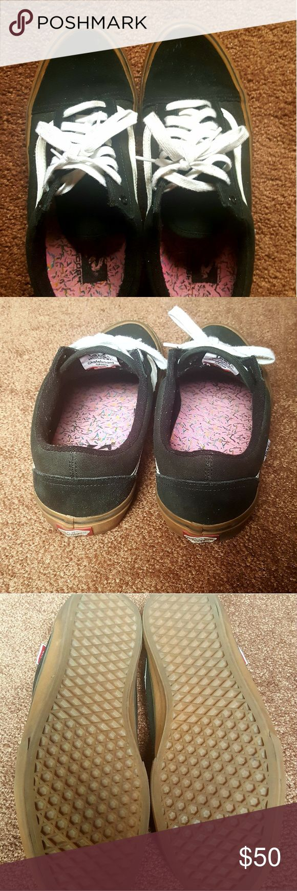 Selling this Vans old skool pro skate sneakers on Poshmark! My username is: prettiinink. #shopmycloset #poshmark #fashion #shopping #style #forsale #Vans #Other