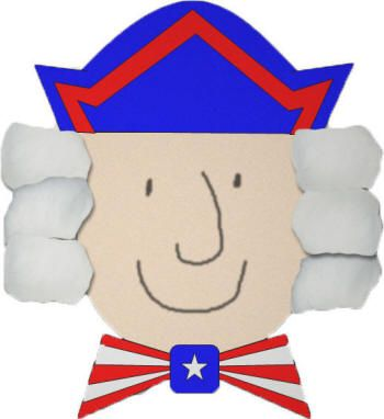 President's Day Craft-George Washington Cotton Ball and Paper Craft