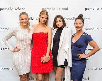 Jamie Erdahl, Nadine Leopold, Olivia Culpo, Aly Raisman at Pamella Roland : Spring/Summer 18 Runway Show.