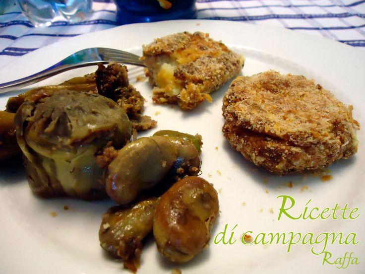 Polpette, hamburger e cannoli di agnello, salsiccia e patate aromatizzate alla maggiorana