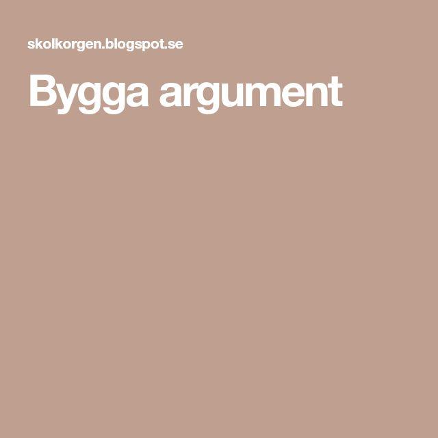 Bygga argument