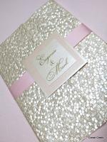 wedding invitation pink flowers natural romantic handmade elegant beautiful