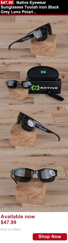 Unisex accessories: Native Eyewear Sunglasses Toolah Iron Black Grey Lens Polarized BUY IT NOW ONLY: $47.99