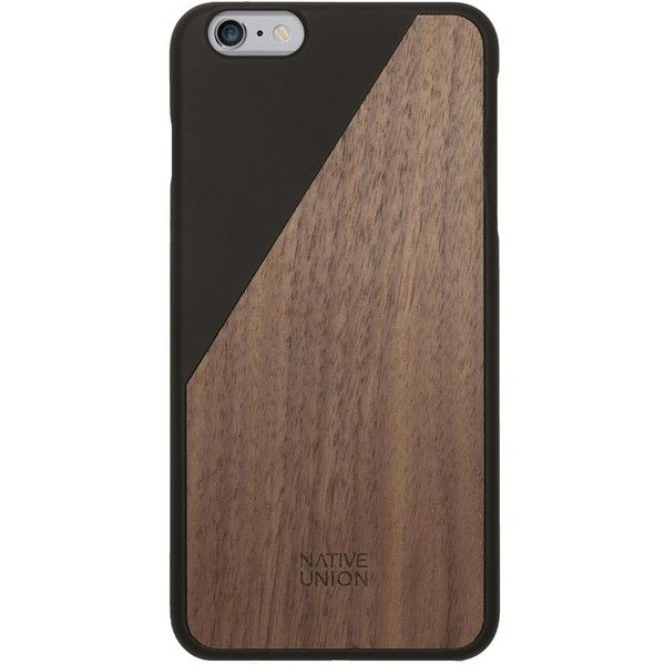 Native union clic wooden case black ($54) ❤ liked on Polyvore featuring men's fashion, men's accessories and men's tech accessories
