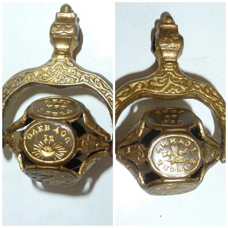 Antique Victorian Intaglio Seal multi wheel 6 wax seals picture Motto Sentiment   | eBay