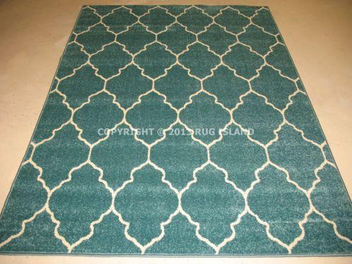 Aqua area rug 8×10