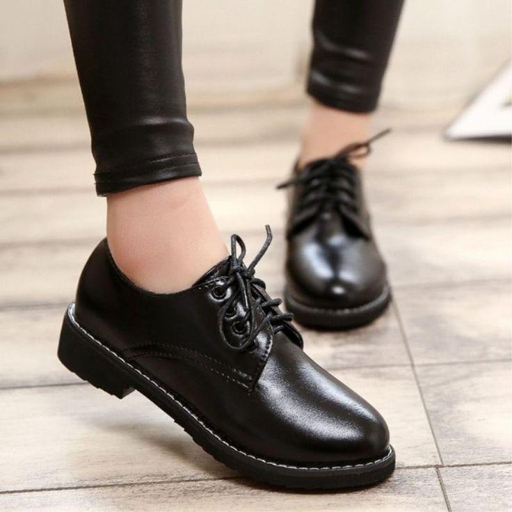 2016 New Women's Lolita Maid Round Toe Shoes Japanese School Uniform Uwabaki Flat Cosplay Flat Shoes Black Wine Red