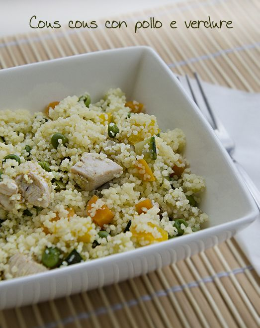 Per un piatto unico da gustare nelle calde giornate estive, sotto l'ombrellone o come picnic cosa c'è di meglio di un cous cous con pollo e verdure?