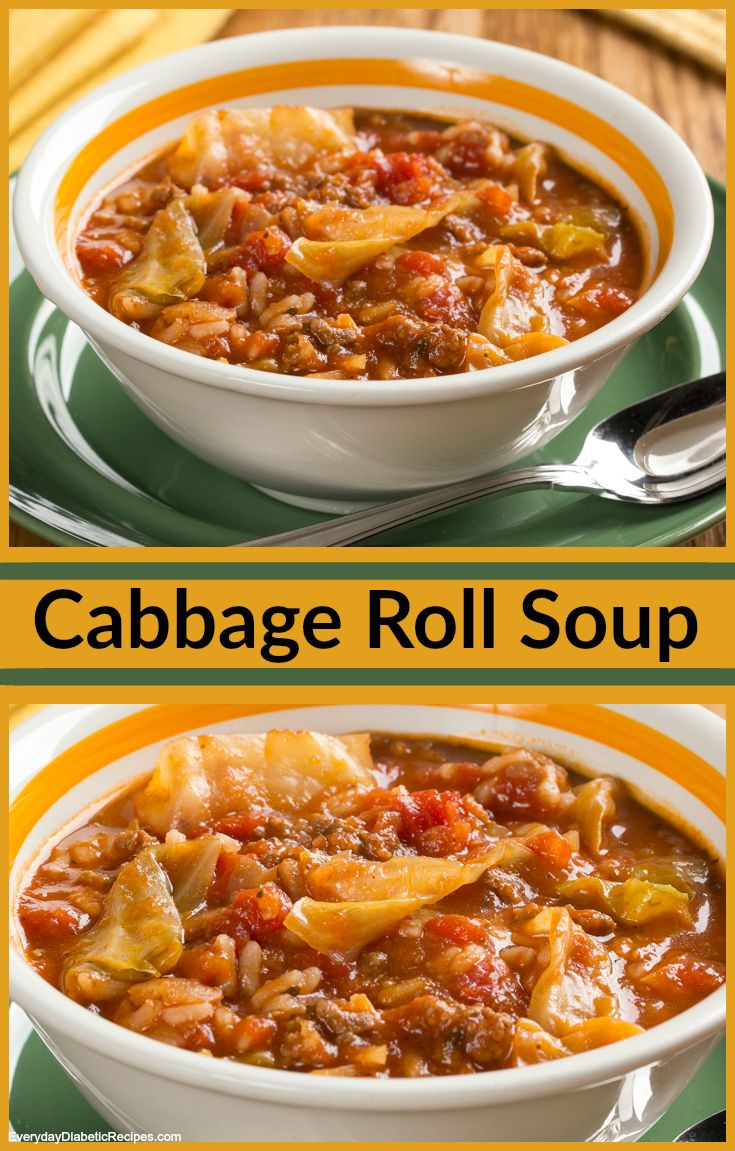 Cabbage Roll Soup Cabbage roll soup, Diabetic friendly and Cabbage rolls