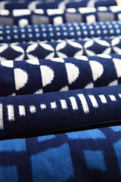 Deep indigo blue. Representation of the photo is difficult. Cloth of indigo splashed studio.