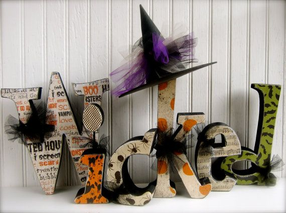 halloween decoration wicked wood letters regular halloween wood wooden letters on etsy 5995 - Etsy Halloween Decorations