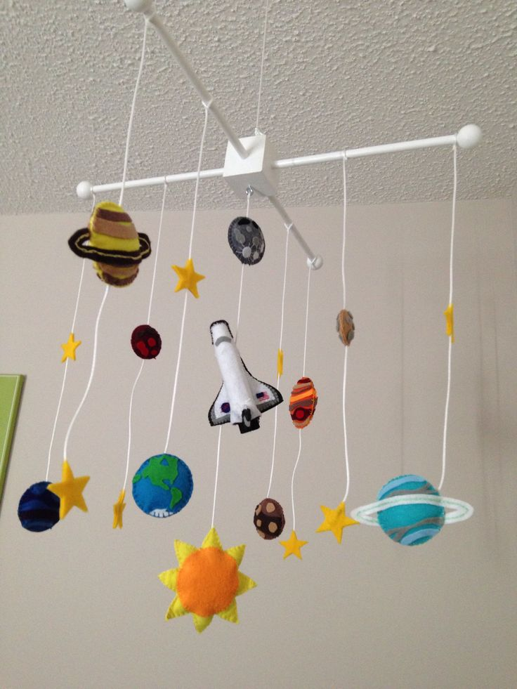 handmade solar system mobile - photo #3