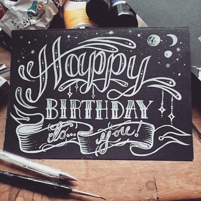 16 best images about → Happy Birthday Typography on ...