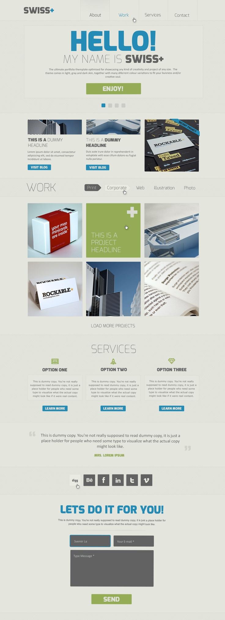 Swiss – Responsive Portfolio PSD Theme  #design #webdesign #template #web #graphic #psd #photoshop #website #responsive #flat #metro #modern #stylish