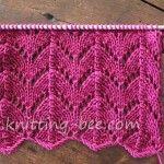 Horseshoe Lace Knitting Stitch