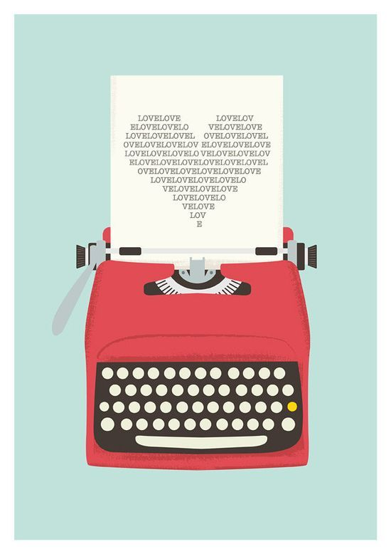 Love Print  Vintage Typewriter Poster Love poster   Typography art   A3. $22.00, via #Illustrations #graphic design #advertising| http://illustrations-posters.lemoncoin.org