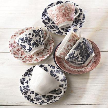 Churchill Vintage Print Tea Cups