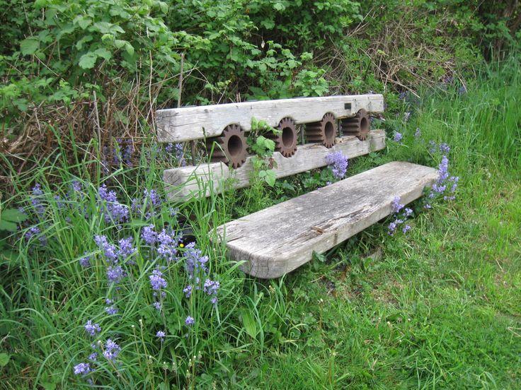 Bench at Community Garden in Courtenay