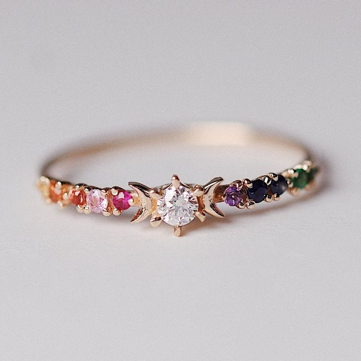 Rainbow Stardust Ring