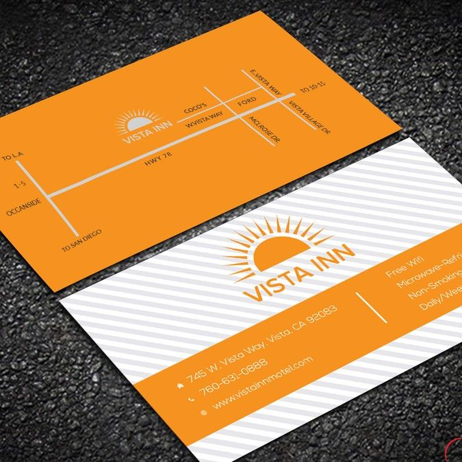 Redesign and update a business card for motel in San Diego. by luxury_design