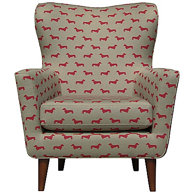 Buy John Lewis Thomas In Hound Armchair, Dachshund Red online at JohnLewis.com - John Lewis