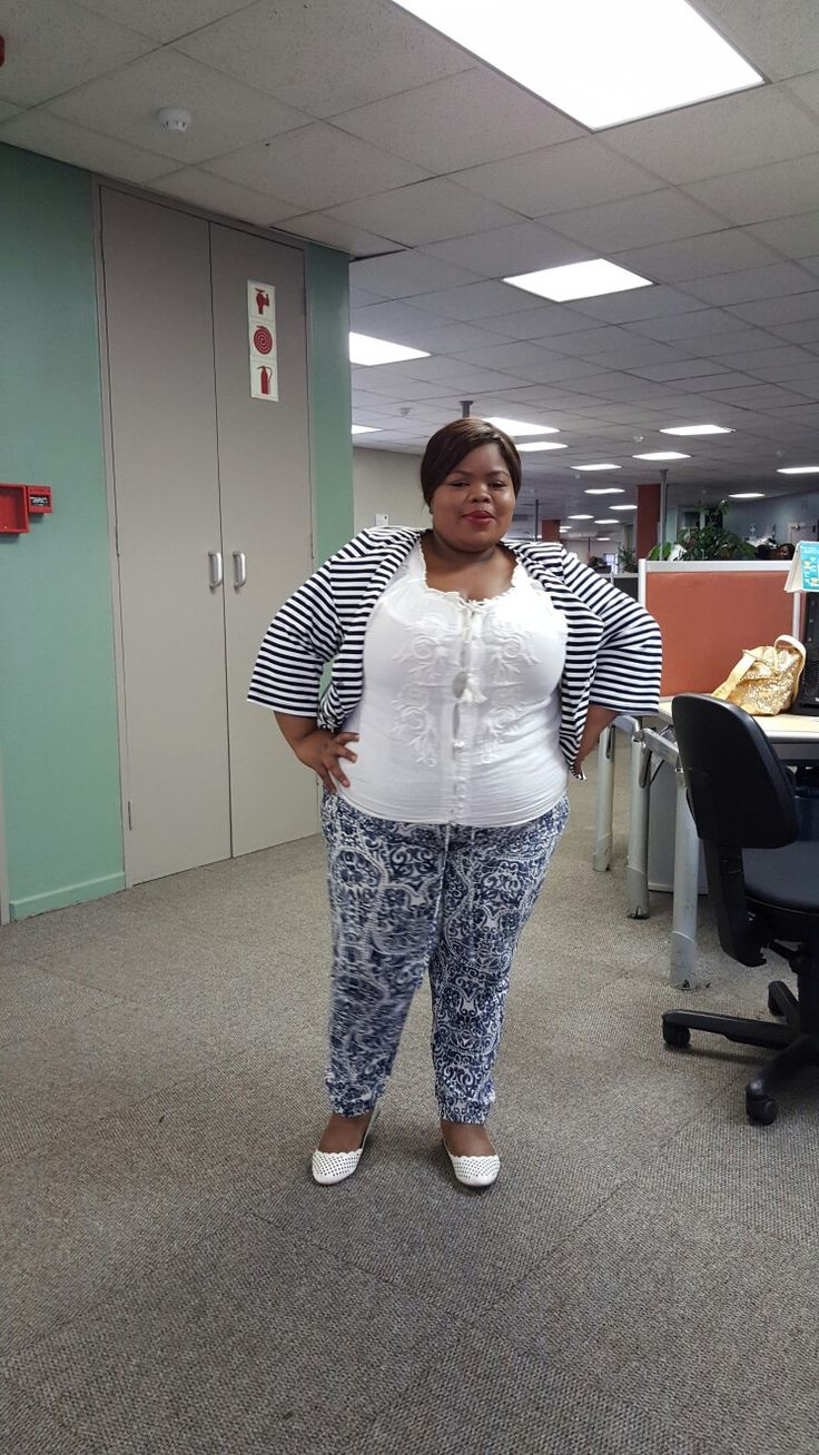 Print trouser toned it down with the shoes and top  ... styled by Molebo