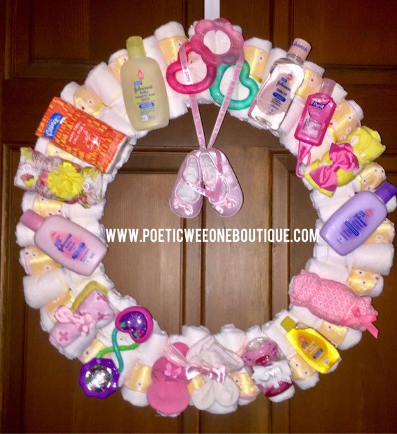 Baby Shower Wreath Instructions: 1000+ Ideas About Diaper Wreath On Pinterest