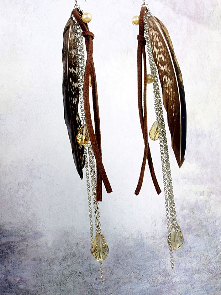 A personal favorite from my Etsy shop https://www.etsy.com/ca/listing/229087716/fancy-natural-feather-earrings-long