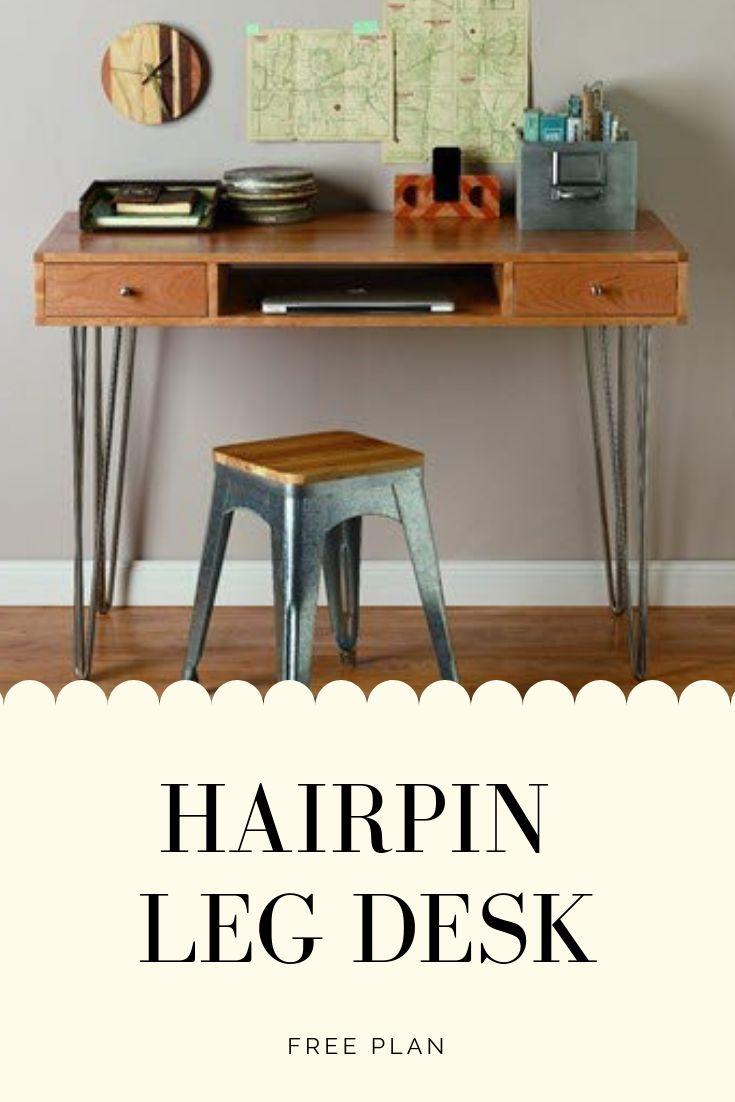 Hairpin leg desk plan rocklers isemble 3rod hairpin