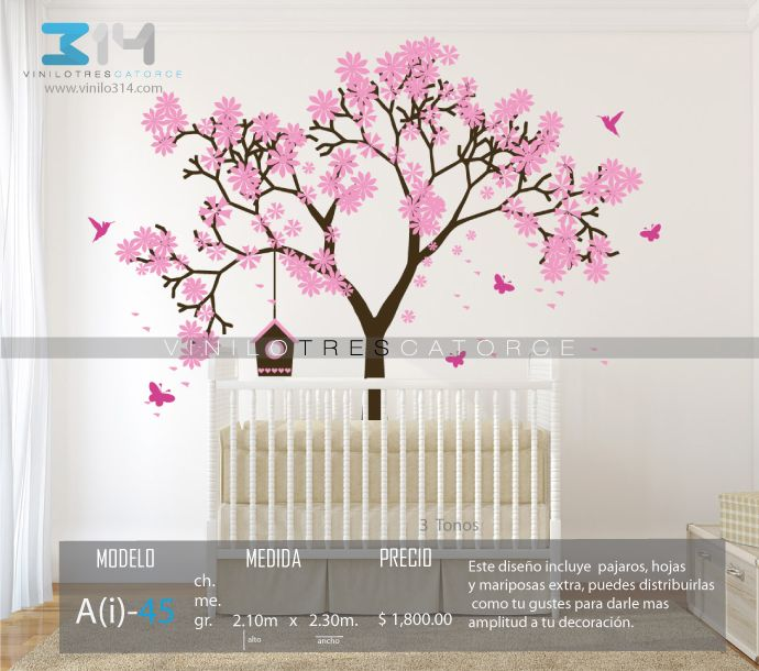 Vinilos decorativos rboles infantiles sticker decorativo for Sticker habitacion infantil