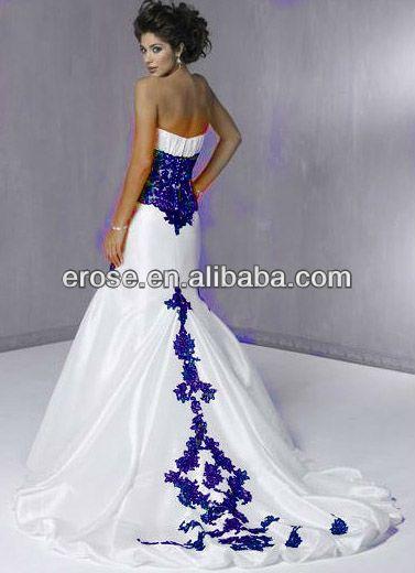 white wedding dresses buy royal blue and white wedding dresseswhite