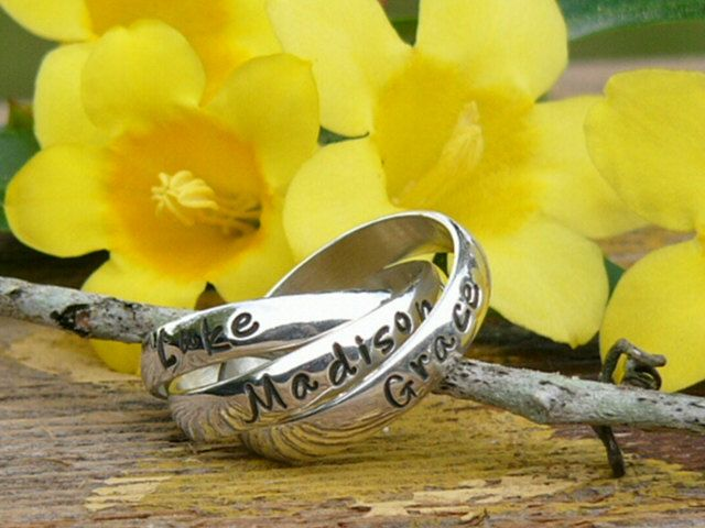 Rolling Ring Mothers Ring Name Ring Message by namejewelrydesigns, $80.00