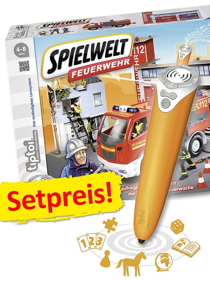 Mit der #Tiptoi #Spielewelt wird #Feuerwehr lebendig! Das ideale #Geschenk für den nächsten #Kindergeburtstag.